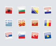Postage Stamp Flags: Balkans