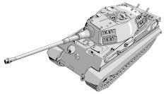 High angle view of a battle tank