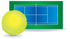 Tennis - Ball and Court
