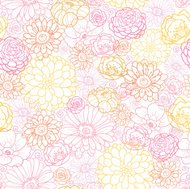 Wedding Bouquet Floral Seamless Pattern