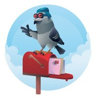 pigeon and mailbox