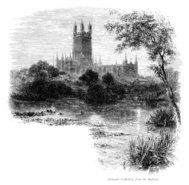 Victorian engraving of Gloucester Cathedral