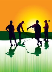 Golf Foursome Silhouettes