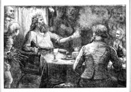 King with people around table  1862 journmal