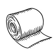 Image result for sketch of toilet paper