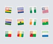 Postage Stamp Flags: West Africa