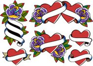 rose and heart element design