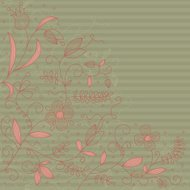 Vector floral pattern.