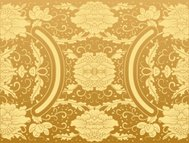 background floral vintage gold vector