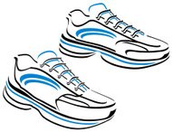 Running shoes vector graphic