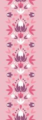 Spring Ornament Vertical Seamless Pattern Border