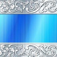 Blue and brushed steel futuristic banner