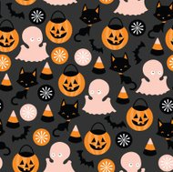 Trick Or Treat Seamless Pattern Background
