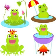 Cute vector Icons : Animal : Frogs