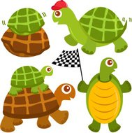 Cute vector Icons : Animal : Fast Turtle