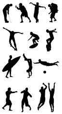Silhouette of sports person