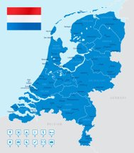 Netherlands - highly detailed map