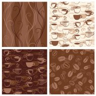 Coffee Themed Seamless Wallpaper Patterns
