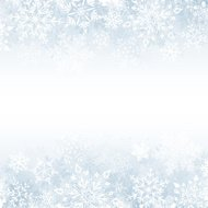 Winter Snowflake Background with Copy Space