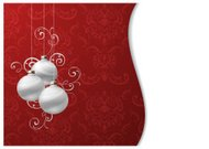 Christmas Bauble Red Wave Background