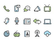 Graphico icons - Communication and media