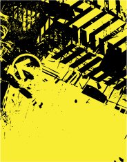 Abstract yellow/black background