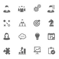 Business Icon Set | Simplicity Series
