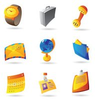 Icons for business office