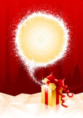 Christmas background illustration with gift box