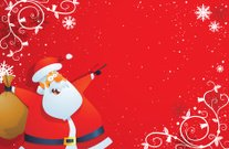 Santa Pointing Christmas Card