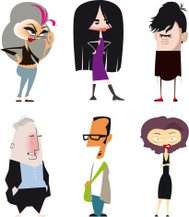Different Personality Types - Cartoon style