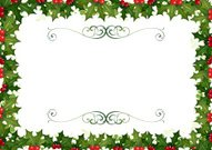 Christmas Holly Frame Border
