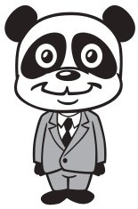 Panda In Business Suit
