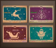 Vintage collection of chipboard Christmas cards.