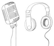 headphone and microphone