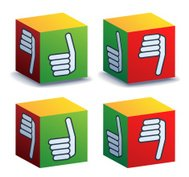 Thumbs Up Cubes