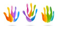 Colorful Abstract Hand