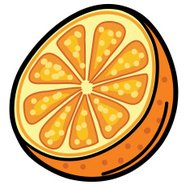 Simple Cartoon Orange Icon