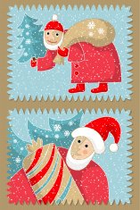 Stamps on Christmas subjects.