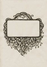 hand drawn frame in vintage style