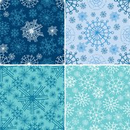 VeVector set of seamless Christmas patterns with snowflake