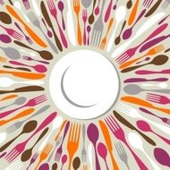 Radial cutlery background