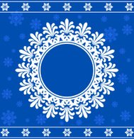 Snowflake Christmas background. Vector illustration