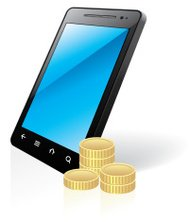 Smart phone and coins
