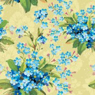 Abstract Elegance vector illustration texture with forget-me-not.