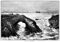 Coast of Mendocino, California (Victorian engraving)