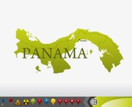 Panama map with navigation icons