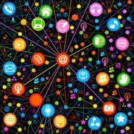 seamless backgrounds communications colored