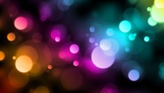 Rainbow Bokeh Lights Vector Background