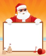 Santa Beach Vacation